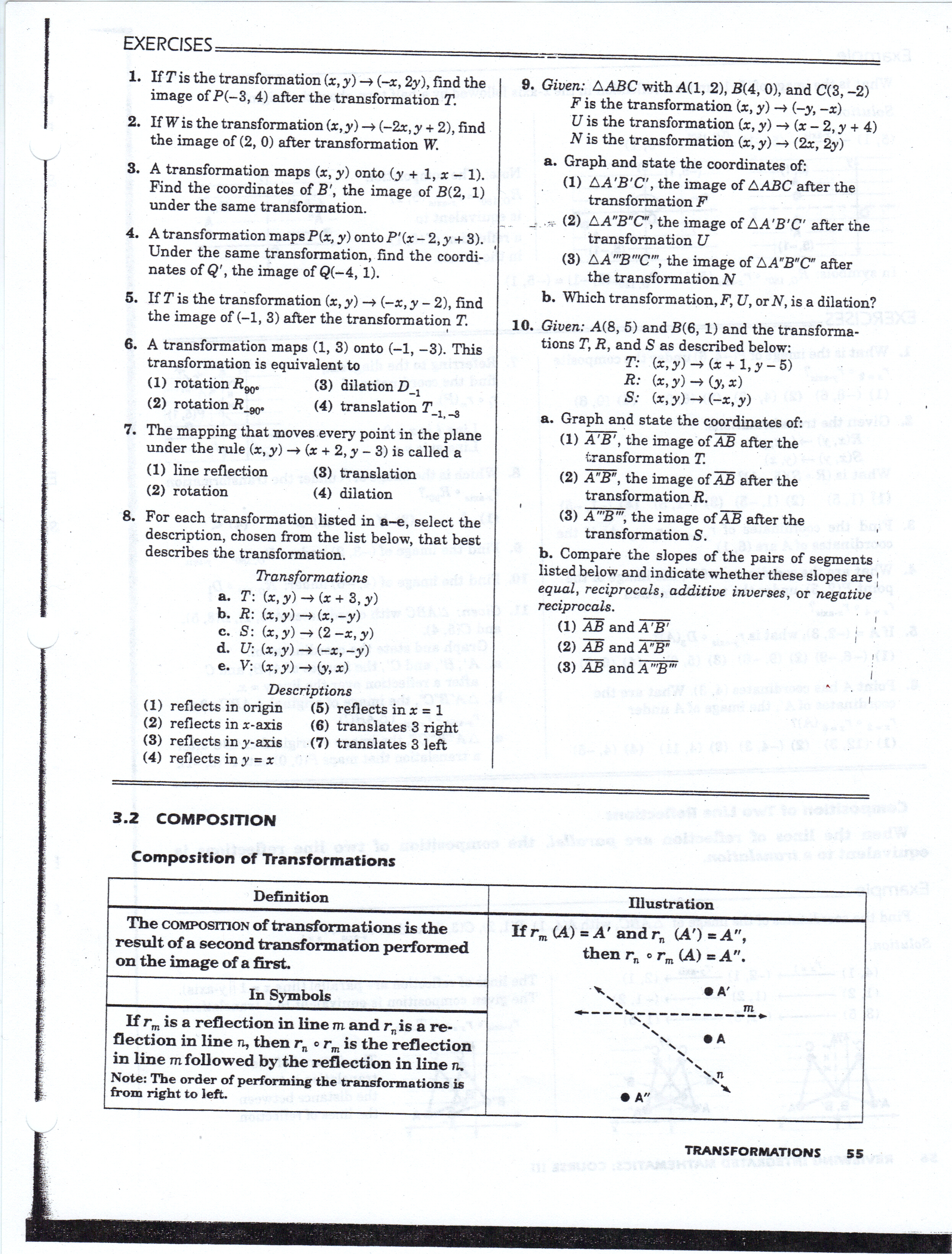 Geometry Translation Worksheet Blank