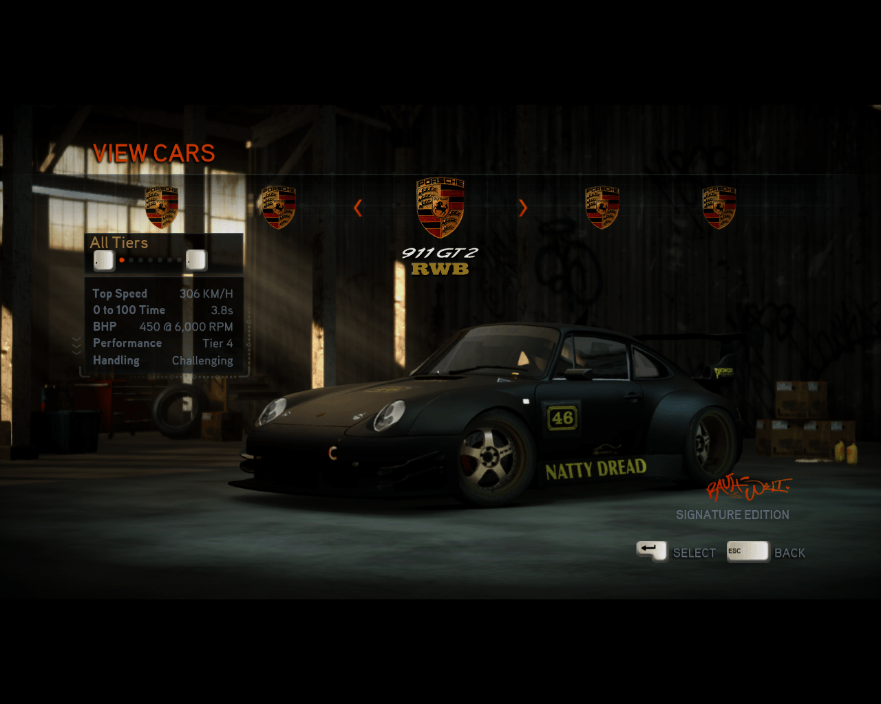 Inclusive una de las creaciones de RWB salen en Need for Speed: The Run