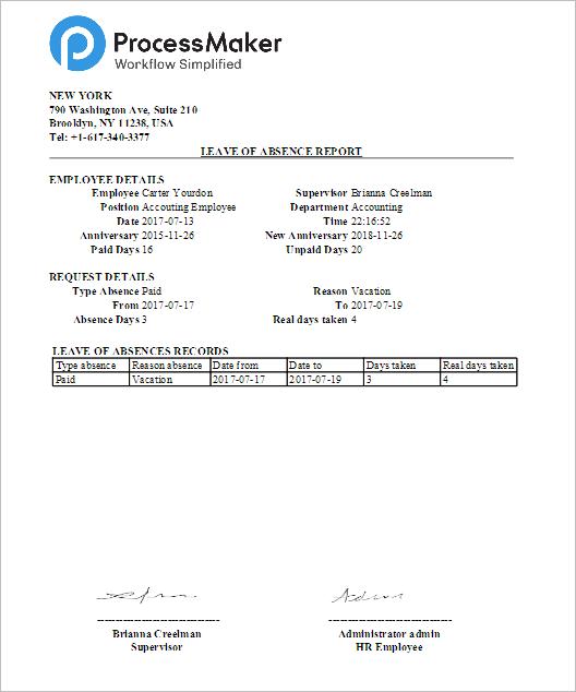 3 0 3 4 Enterprise Trial Leave Of Absence Request Process Documentation Processmaker