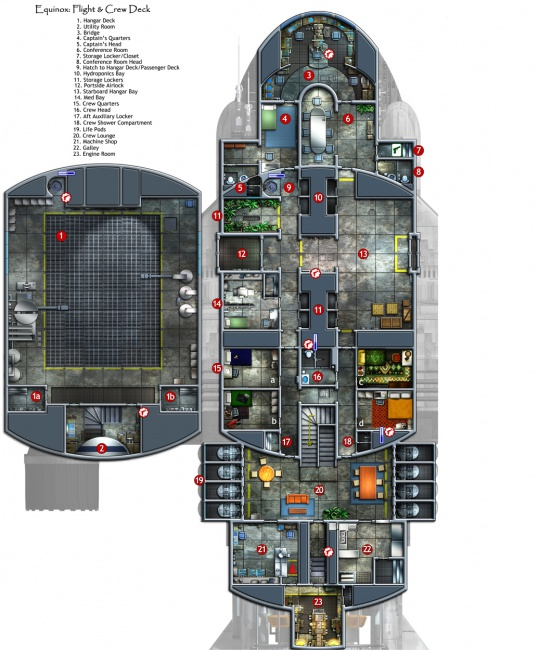 Layout Deck Starship