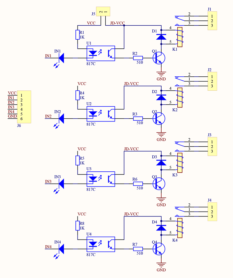 double pole relay wiring diagram solar panel 4 channel 5v module - wiki