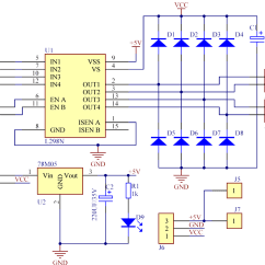 L298 H Bridge Circuit Diagram Automobile Wiring Diagrams Manual E Books Motor Driver Module L298n Wikil298 7