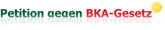 Stoppt das BKA-Gesetz