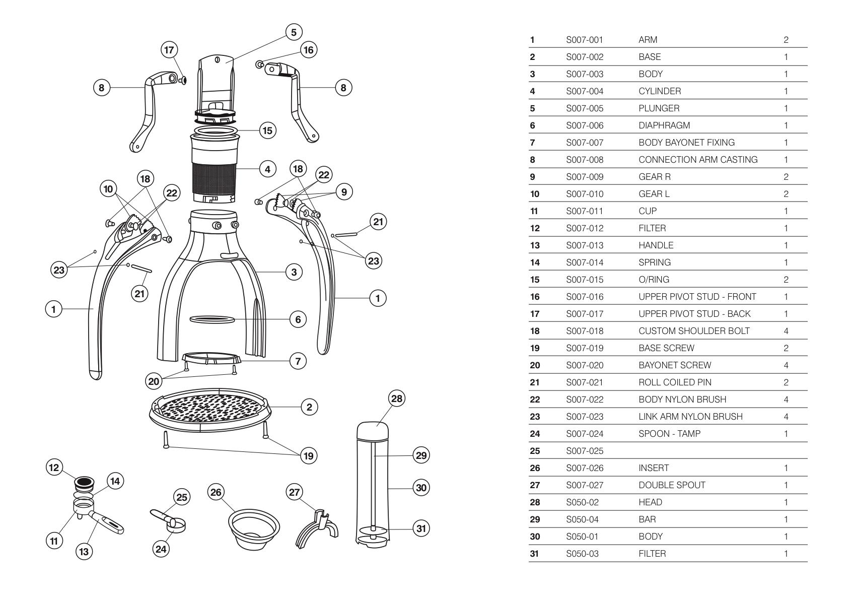 Rok Espresso Maker Diagrams And Manuals