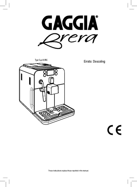 Saeco Coffee Machine Descaling Instructions