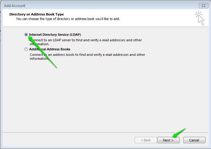 Configure Zimbra Gal As Ldap Addressbook In Outlook Zimbra