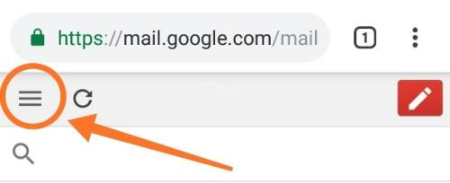 gmail menu