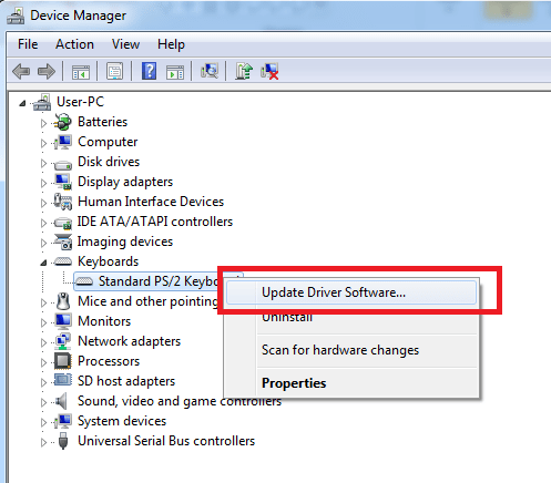 windows 7 device manager