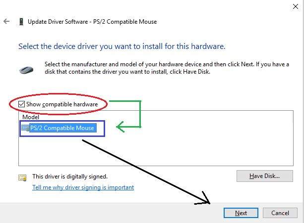 update driver windows for mouse