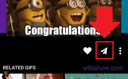 Giphy sharing button