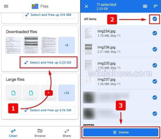 Google Files App Delete Downloaded Files