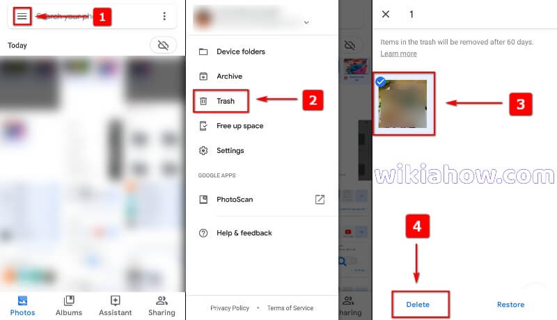 How to Empty Trash on Google Photos