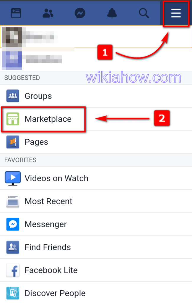 How to get the Facebook Marketplace Icon via the Facebook Website