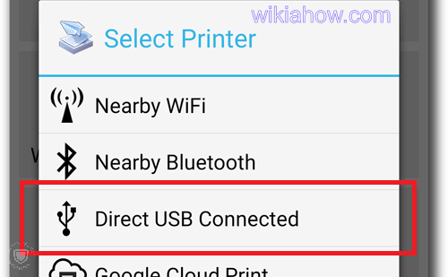 Select printer - direct USB connected