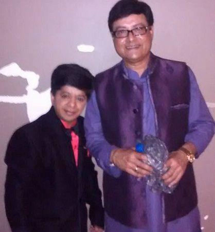 Vineet Bhonde with Sachin Pilgaonkar