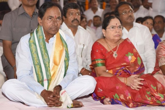 Image result for kcr and his wife