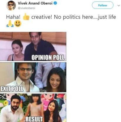 Vivek Oberoi Post About Aishwarya Rai