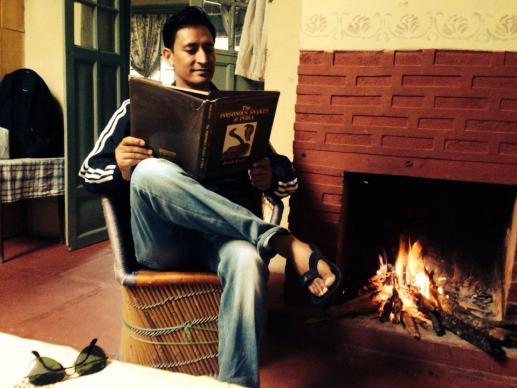 Deepak Rawat Reading A Book
