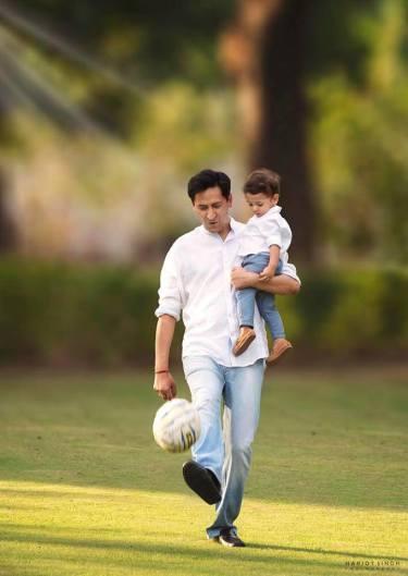 Deepak Rawat With His Son Divyansh