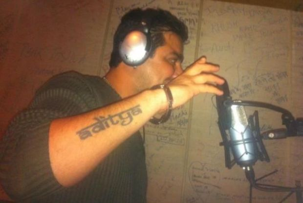Hindustani Bhau tattoo on his right hand