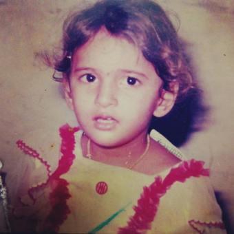 Shivani Raghuvanshi's childhood picture