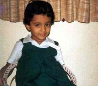Trisha Krishnan as a Child
