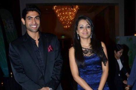 Trisha Krishnan with Rana Dagubatti