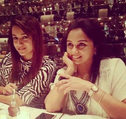 Trisha with her mother