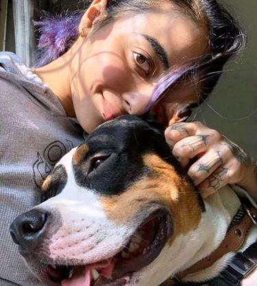 Bani J With Her Pet Dog