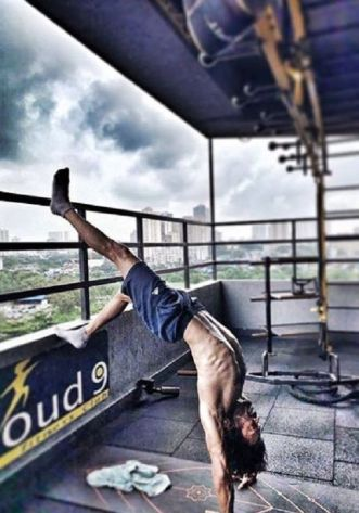 Kranti Prakash Jha Doing Yoga