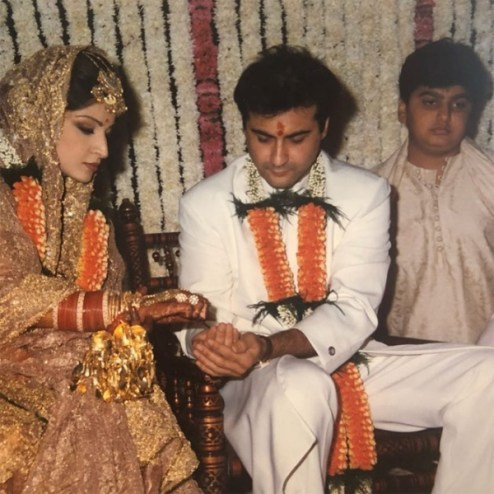 Maheep Kapoor and Sanjay Kapoor's wedding picture