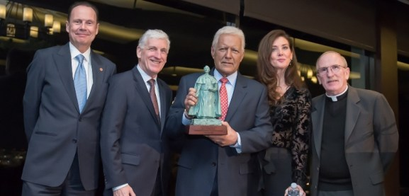 Alex and Jean Trebek receiving Fordham Founder€™s Award (2020)