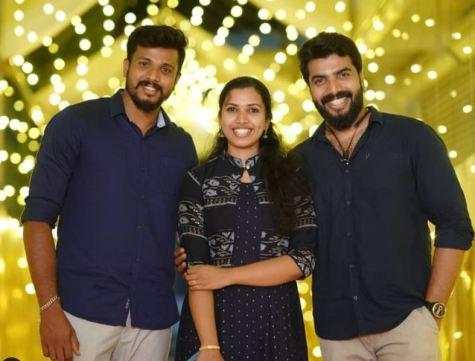 Anoop Krishnan with his siblings