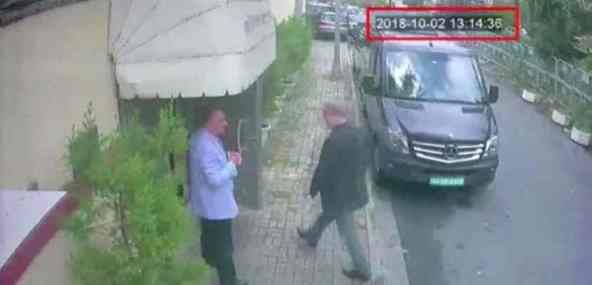 Jamal Khashoggi entering the Saudi Consulate in Istanbul