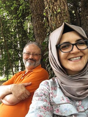 Jamal Khashoggi with Hatice Cengiz