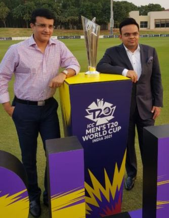 Jay Shah with Sourav Ganguly