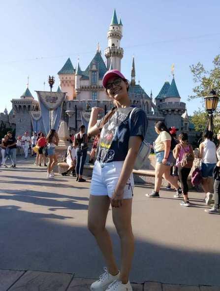 Mansi Sehgal posing at Disneyland Los Angeles in June 2018