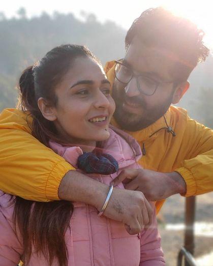 Mukti Gautam with her boyfriend