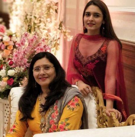 Mukti Gautam with her mother