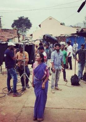 Nirmala Channapa during an ad shoot