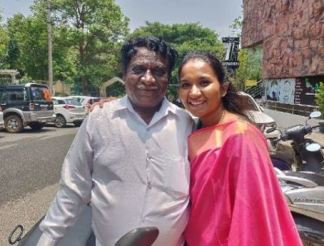 Nirmala Channapa with her father