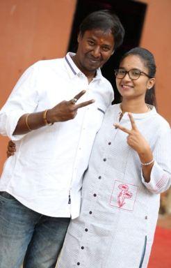 Nirmala Channapa with her husband