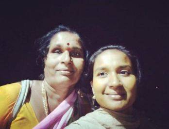Nirmala Channapa with her mother