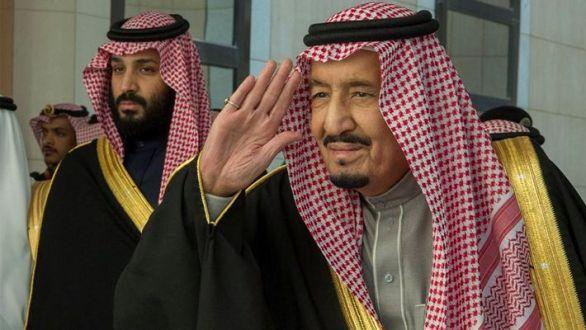 Saudi Arabia's King Salman and Crown Prince Mohammad bin Salman