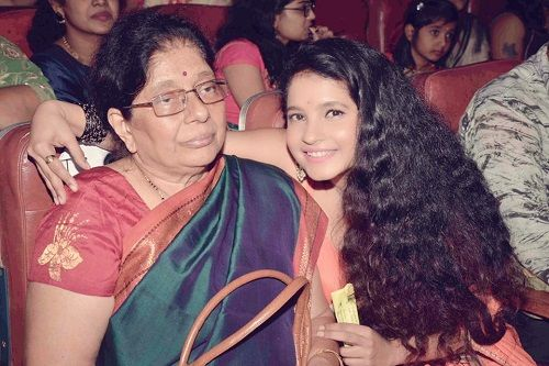 Shubha Poonja and her mother