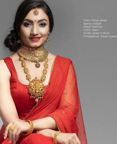 Vaishnavi Gowda in a print advertisement