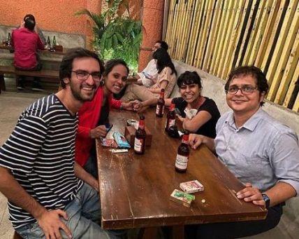 Saket Gokhale drinking alcohol