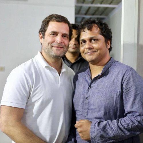 Saket Gokhale with Rahul Gandhi