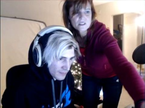 xQc with his mother