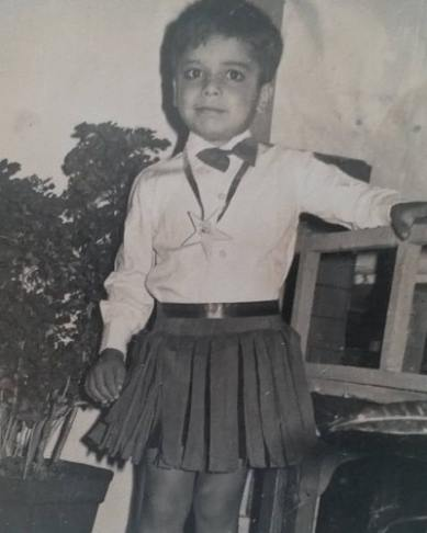 Sameer Rajda's childhood picture